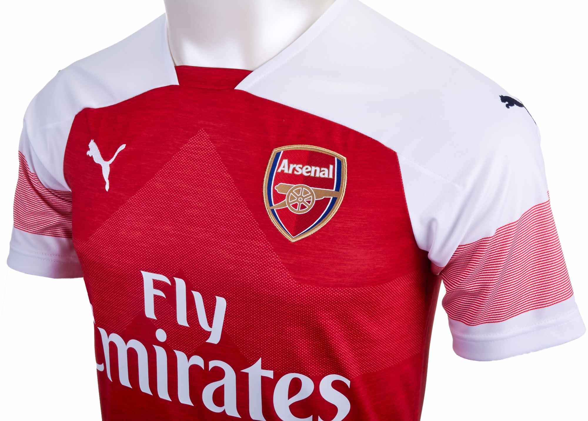 d34a55ff01c 2018 19 Kids PUMA Pierre-Emerick Aubameyang Arsenal Home Jersey ...