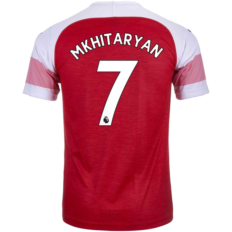 half off 472d4 4ca37 2018/19 Kids PUMA Henrikh Mkhitaryan Arsenal Home Jersey ...