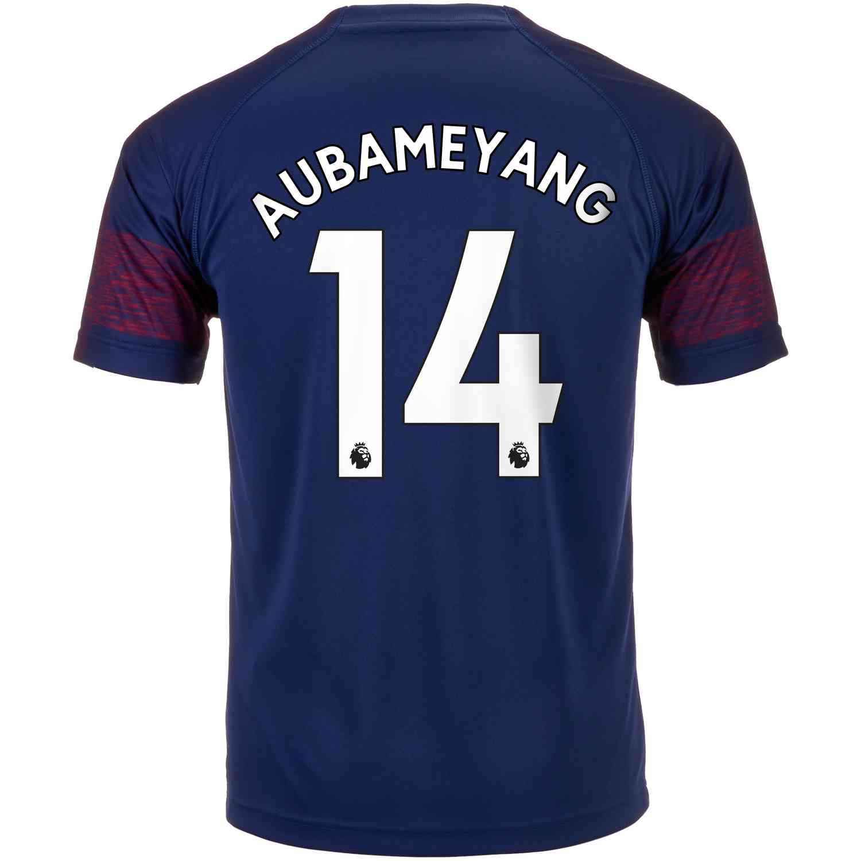 136c93269f3 2018 19 Kids PUMA Pierre-Emerick Aubameyang Arsenal Away Jersey ...
