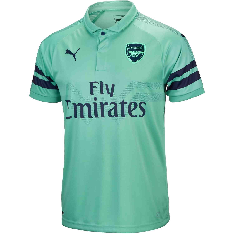 2018 19 PUMA Arsenal 3rd Jersey - SoccerPro 15b13ebb5