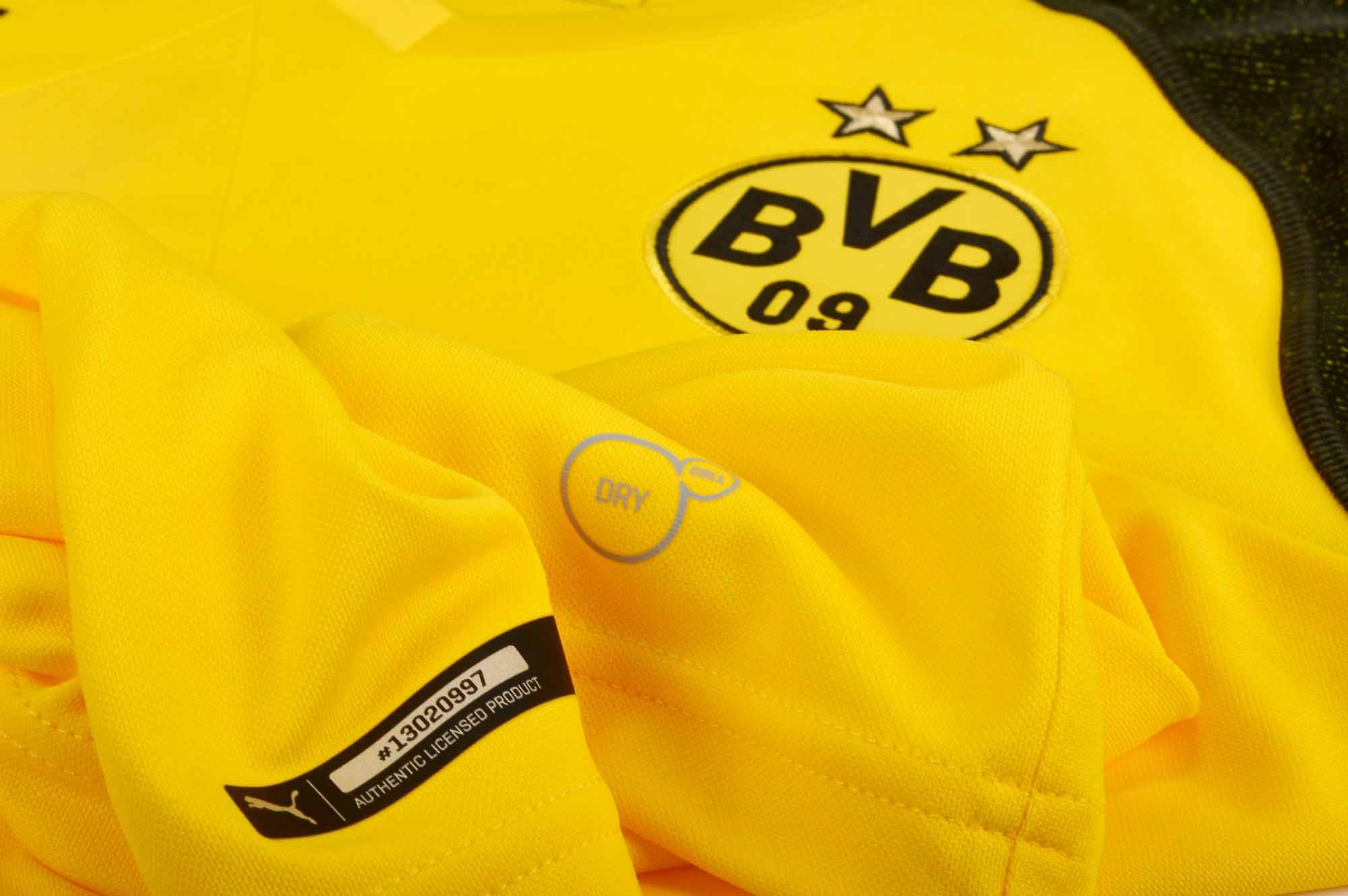 3250da07c53a3 2018/19 PUMA Borussia Dortmund Home Jersey - SoccerPro