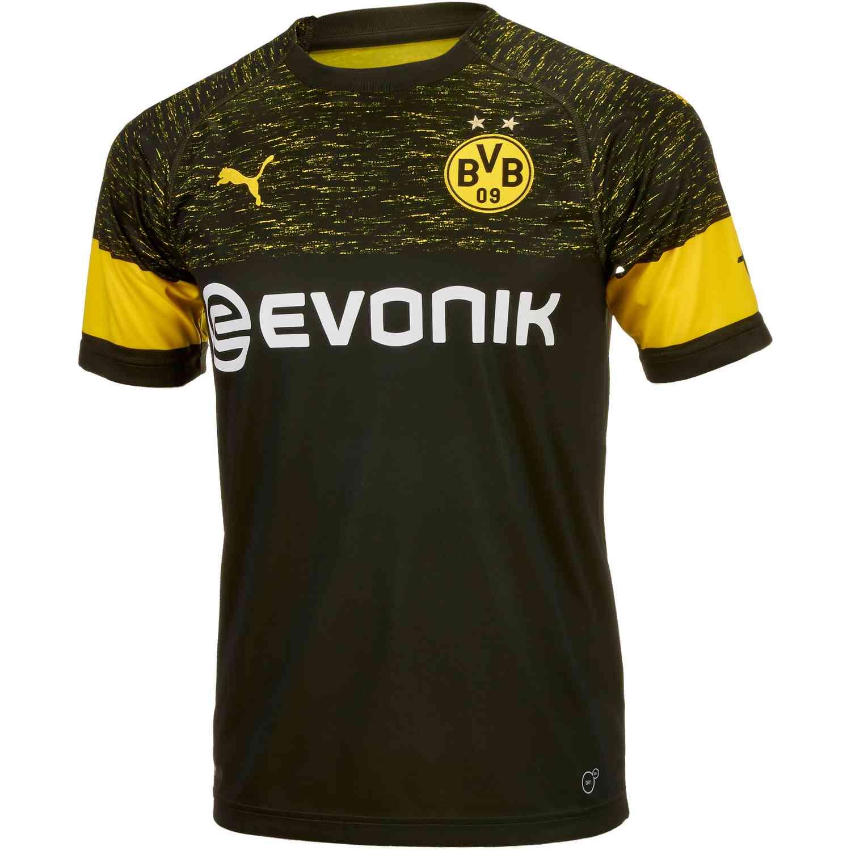 PUMA Borussia Dortmund Away Jersey - Black - SoccerPro f06156693