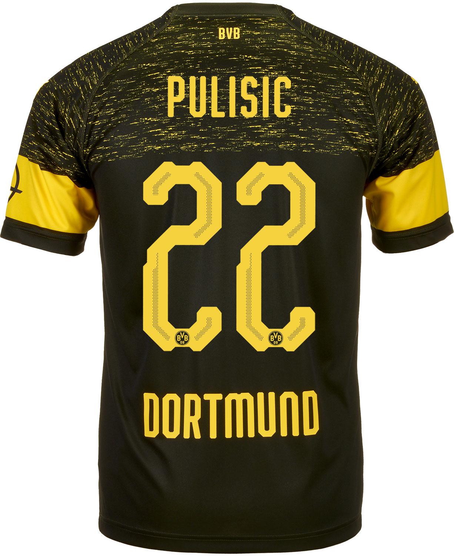 b21aa2112d1 2018/19 PUMA Christian Pulisic Borussia Dortmund Away Jersey - SoccerPro