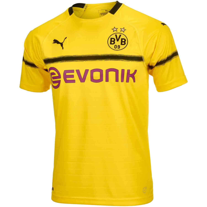 e9fdd4f9355 2018/19 PUMA Borussia Dortmund Cup Jersey - SoccerPro