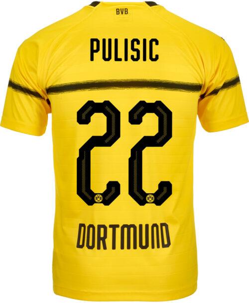2018/19 Kids PUMA Christian Pulisic Borussia Dortmund Cup Jersey