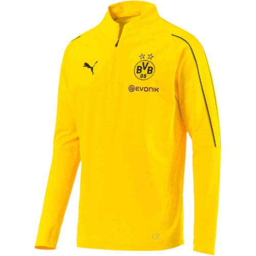 PUMA Borussia Dortmund 1/4 Zip Top – Cyber Yellow