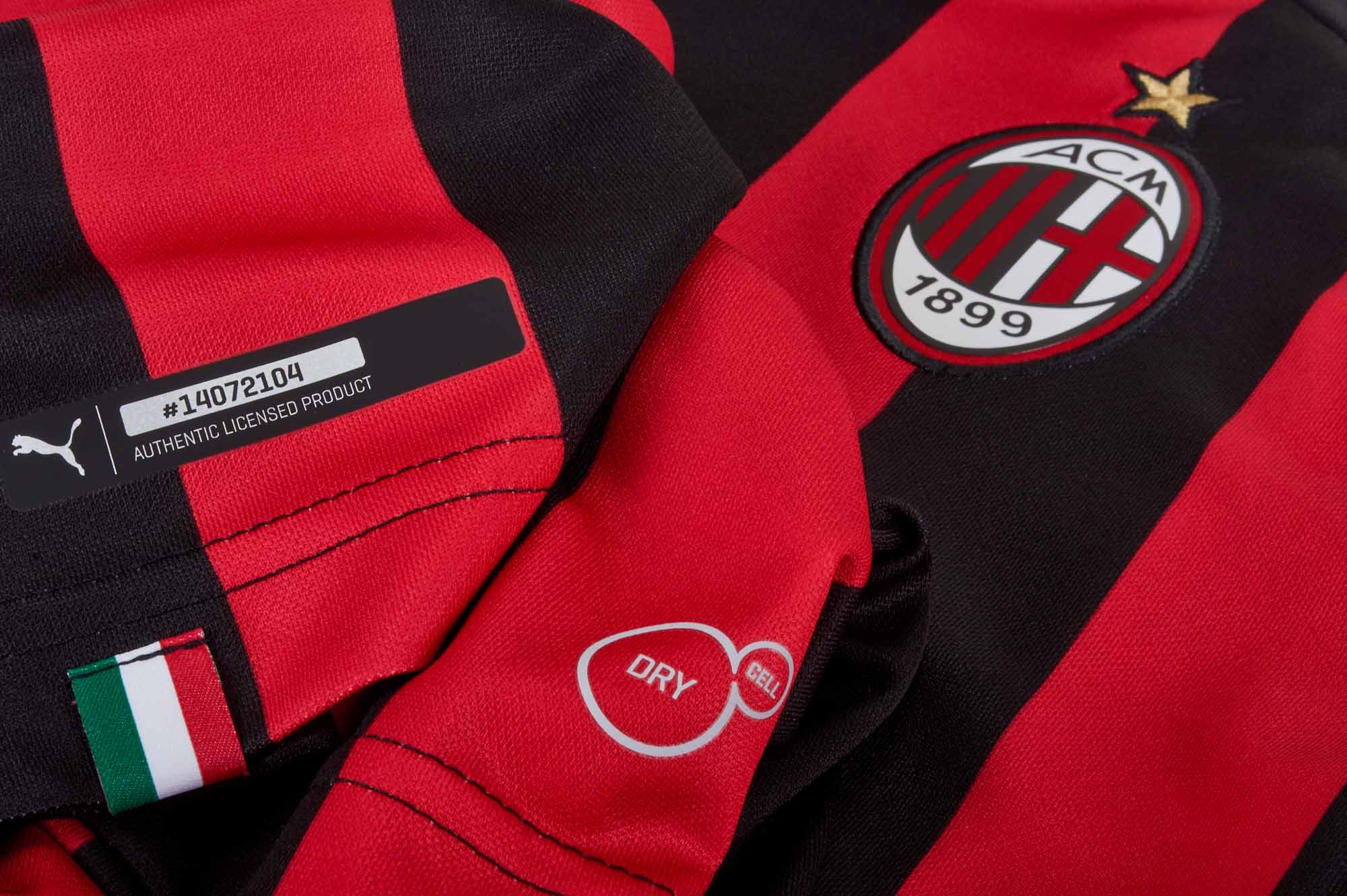 bc9c610be PUMA AC Milan Home Jersey - Chili Pepper/Black - SoccerPro