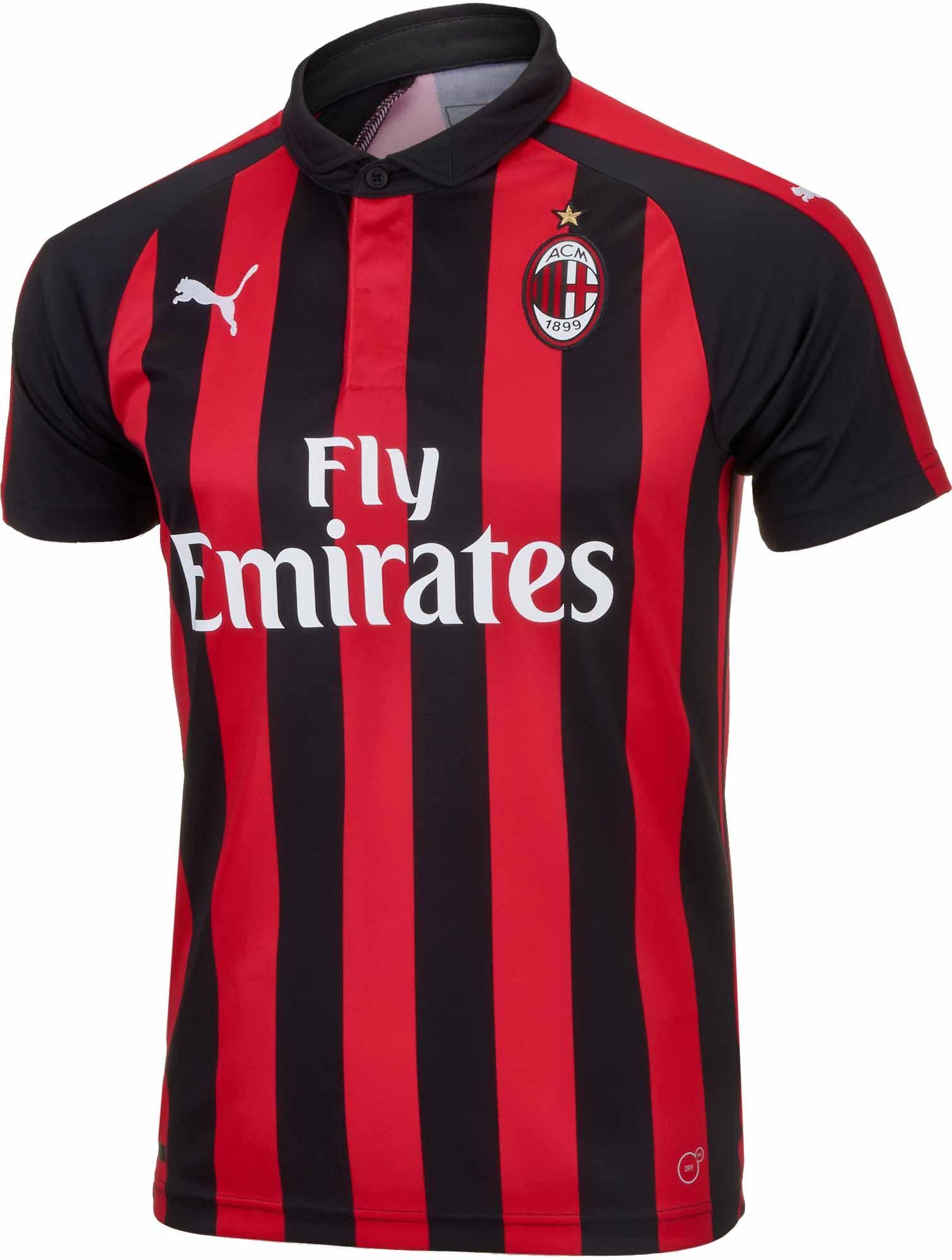 2018 19 Puma Kids Ac Milan Home Jersey Soccerpro