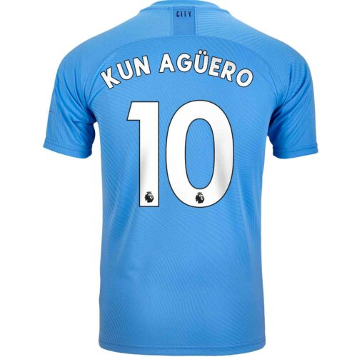 2019/20 PUMA Sergio Aguero Manchester City Home Authentic Jersey