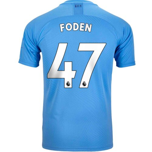 2019/20 PUMA Phil Foden Manchester City Home Authentic Jersey
