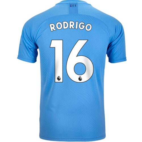 2019/20 PUMA Rodri Manchester City Home Authentic Jersey