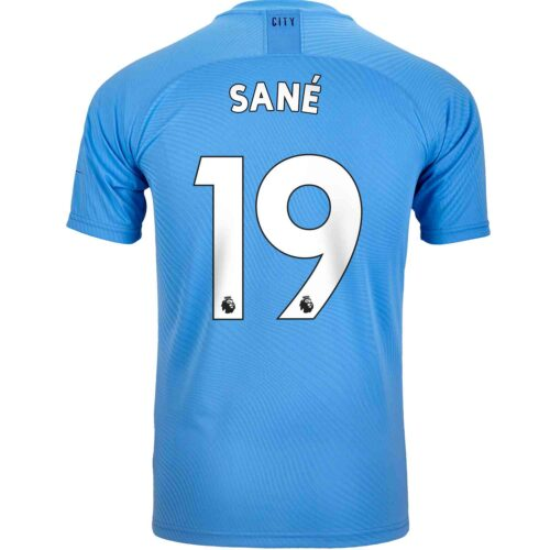 2019/20 PUMA Leroy Sane Manchester City Home Authentic Jersey