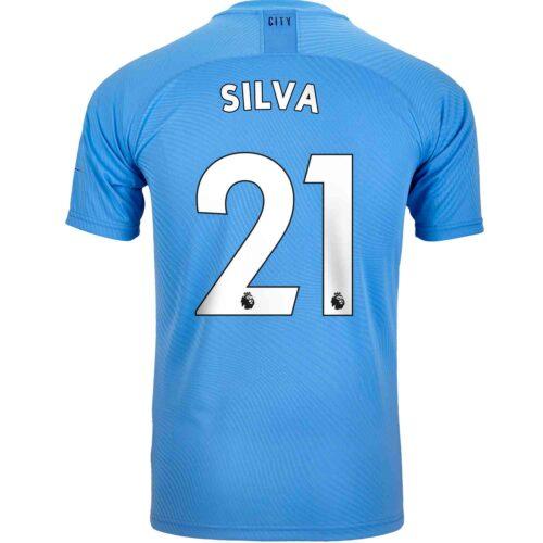 2019/20 PUMA David Silva Manchester City Home Authentic Jersey