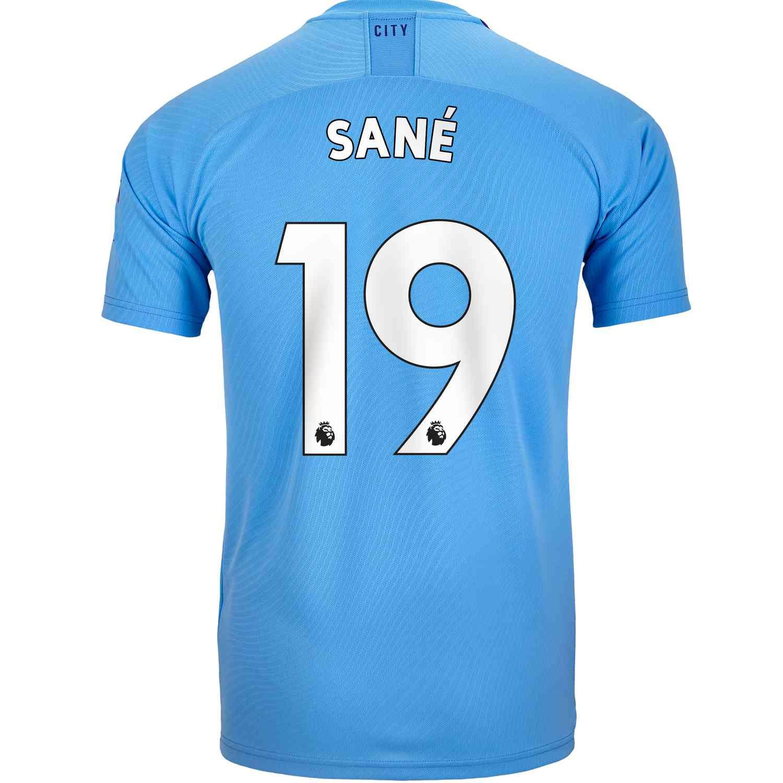 2019/20 PUMA Leroy Sane Manchester City Home Jersey ...