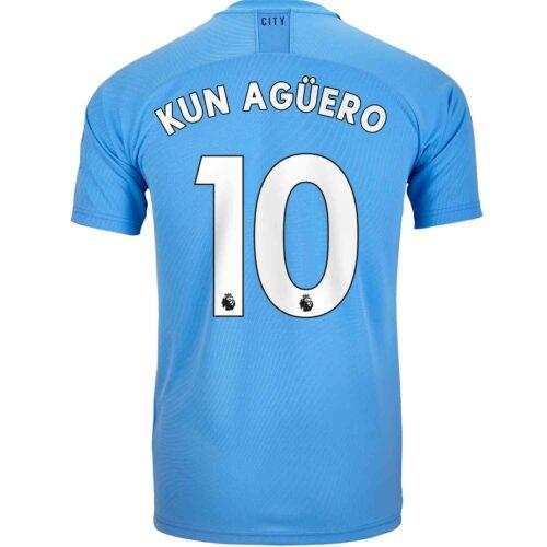 2019/20 Kids PUMA Sergio Aguero Manchester City Home Jersey