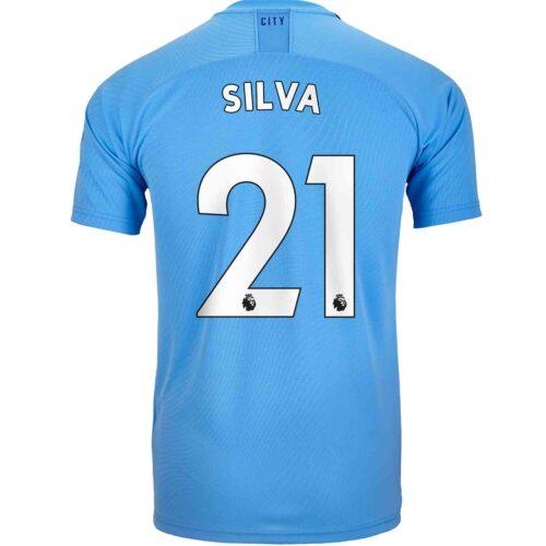 2019/20 Kids PUMA David Silva Manchester City Home Jersey