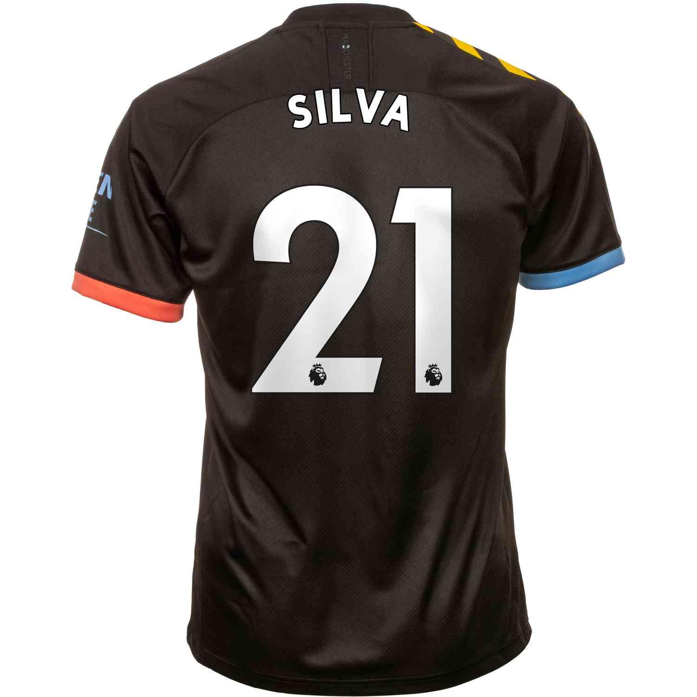 2019/20 PUMA David Silva Manchester City Away Jersey - SoccerPro