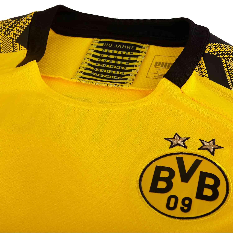 2019 20 Puma Borussia Dortmund Home Jersey Soccerpro