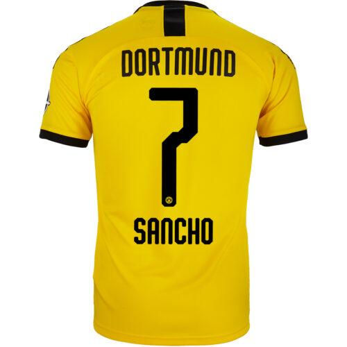 2019/20 PUMA Jadon Sancho Borussia Dortmund Home Jersey