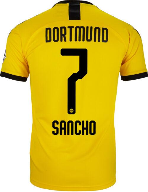 2019/20 Kids PUMA Jadon Sancho Borussia Dortmund Home Jersey