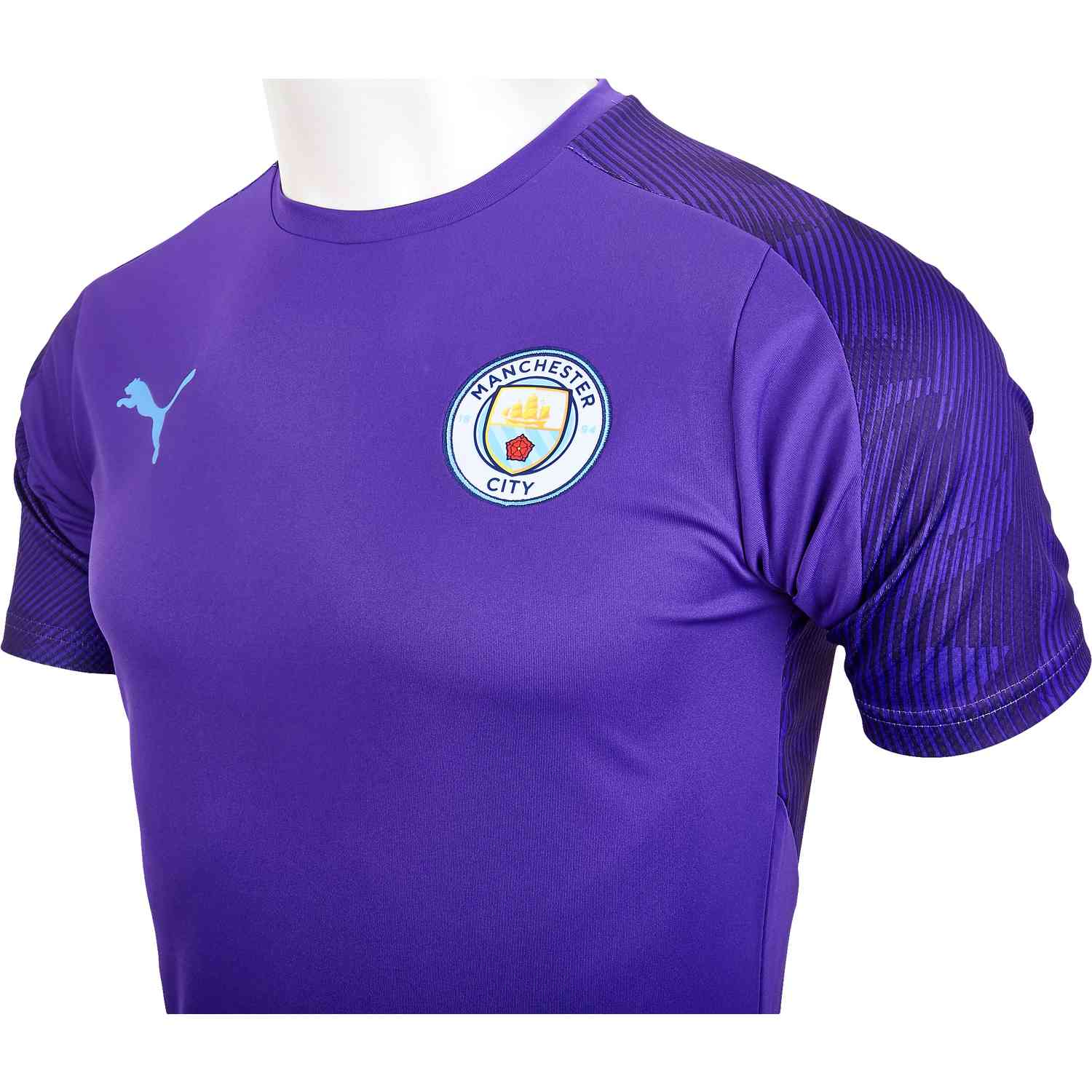 best website 31209 24f87 PUMA Manchester City Training Jersey - Tillandsia Purple/Team Light Blue -  SoccerPro