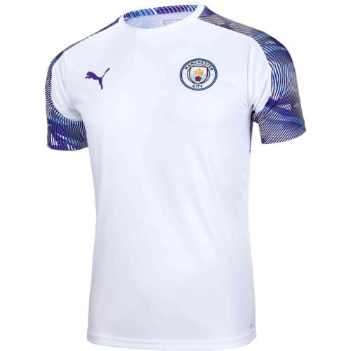 PUMA Manchester City Training Jersey – White/Tillandsia Purple