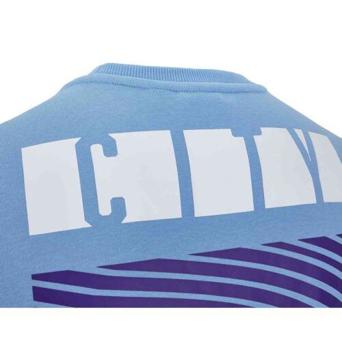 PUMA Manchester City Culture Sweater – Team Light Blue/White