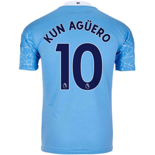 2020/21 Sergio Aguero Manchester City Home Authentic Jersey