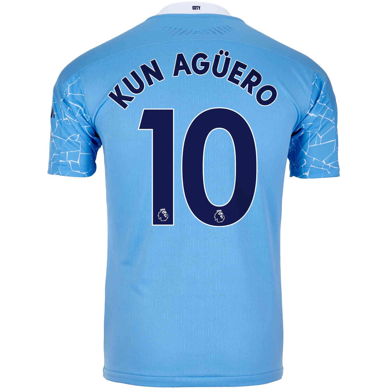 2020/21 Sergio Aguero Manchester City Home Authentic ...