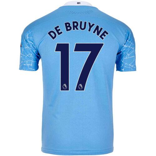 2020/21 Kevin De Bruyne Manchester City Home Authentic Jersey