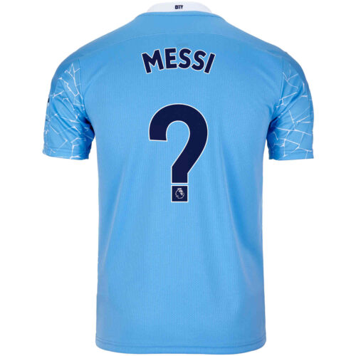 2020/21 PUMA Lionel Messi Manchester City Home Jersey