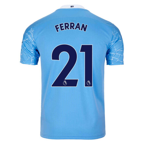 2020/21 PUMA Ferran Torres Manchester City Home Jersey