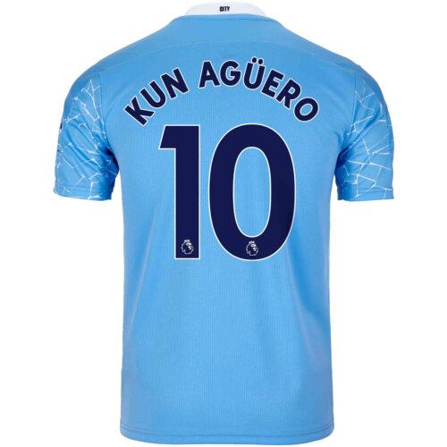 2020/21 Kids Sergio Aguero Manchester City Home Jersey