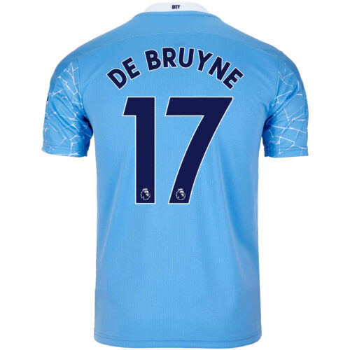 2020/21 Kids Kevin De Bruyne Manchester City Home Jersey