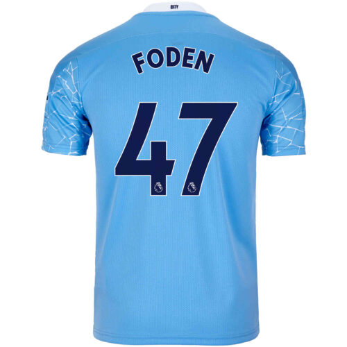 2020/21 Kids Phil Foden Manchester City Home Jersey