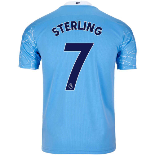2020/21 Kids Raheem Sterling Manchester City Home Jersey