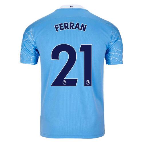 2020/21 Kids PUMA Ferran Torres Manchester City Home Jersey