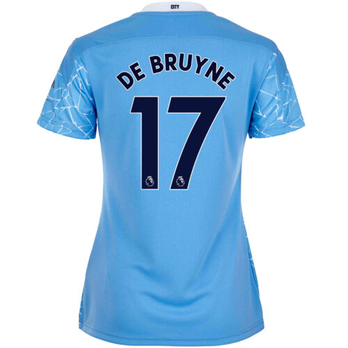 2020/21 Womens Kevin De Bruyne Manchester City Home Jersey