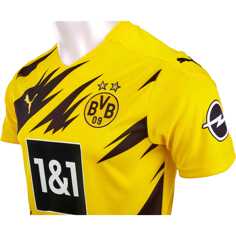 2020 21 Puma Borussia Dortmund Home Jersey Soccerpro