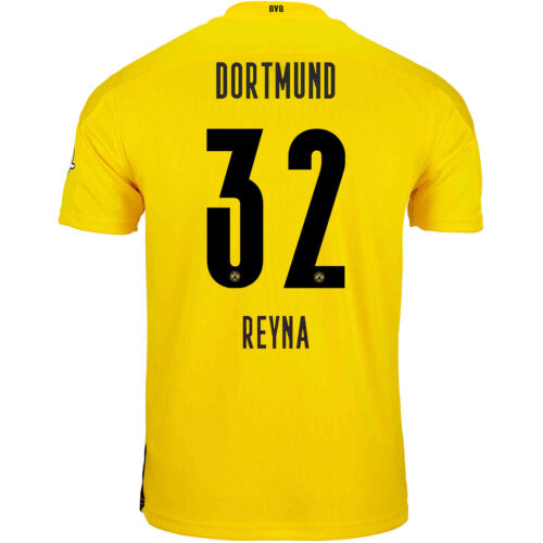 2020/21 Kids PUMA Giovanni Reyna Borussia Dortmund Home Jersey