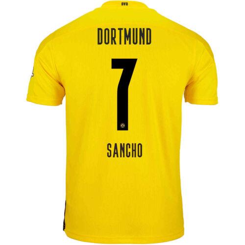 2020/21 Kids PUMA Jadon Sancho Borussia Dortmund Home Jersey