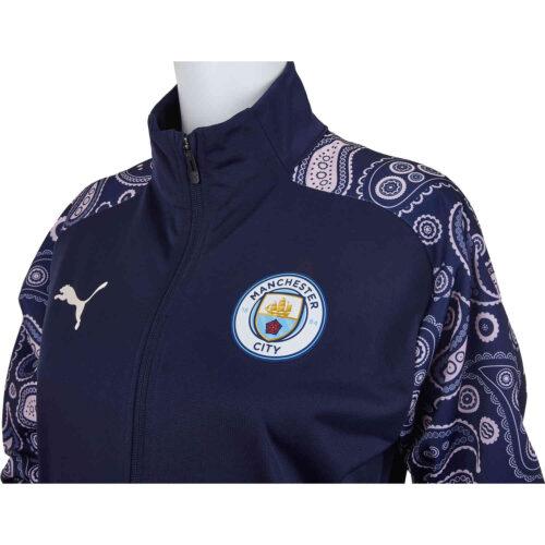 PUMA Manchester City Stadium Jacket – Peacoat/Lilac Snow