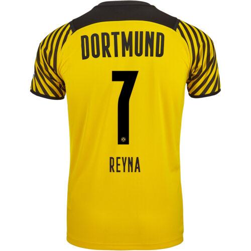 2021/22 PUMA Giovanni Reyna Borussia Dortmund Home Jersey