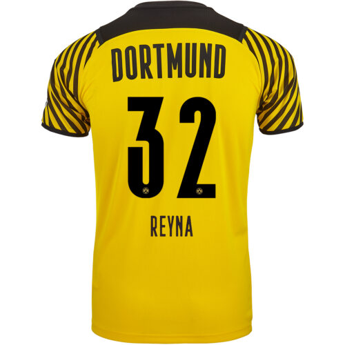 2021/22 Kids PUMA Giovanni Reyna Borussia Dortmund Home Jersey
