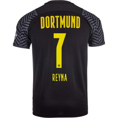 2021/22 PUMA Giovanni Reyna Borussia Dortmund Away Jersey