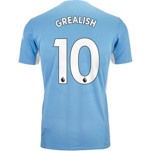 2021/22 PUMA Jack Grealish Manchester City Home Authentic Jersey