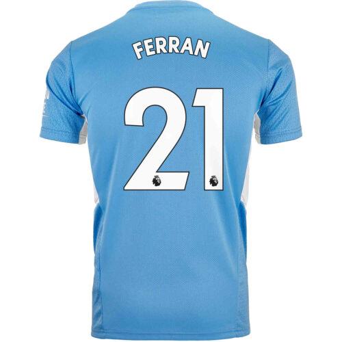 2021/22 PUMA Ferran Torres Manchester City Home Jersey
