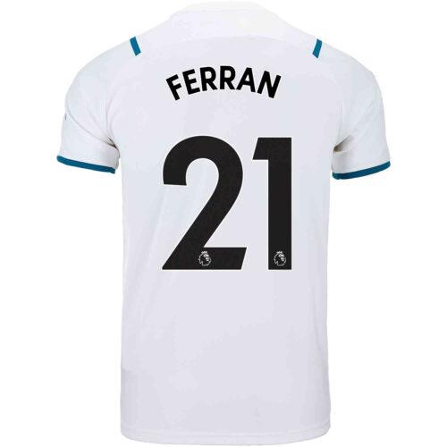 2021/22 Kids PUMA Ferran Torres Manchester City Away Jersey