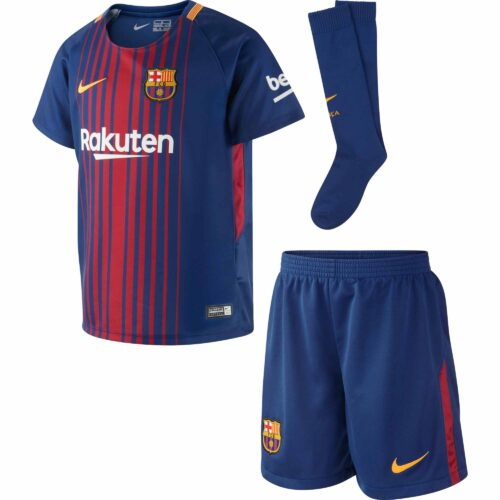 Nike Barcelona Little Kids Home Kit 2017-18