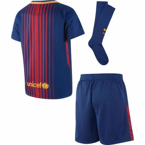 Nike Barcelona Little Kids Home Kit 2017-18